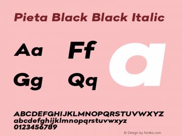 Pieta Black Black