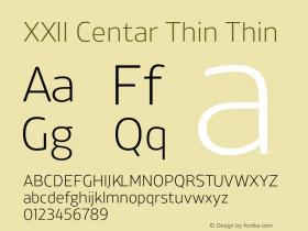 XXII Centar Thin