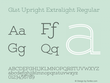 Gist Upright Extralight