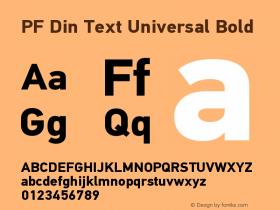 PF Din Text Universal