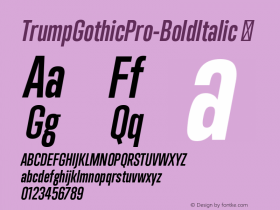 TrumpGothicPro-BoldItalic