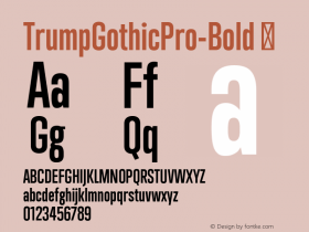 TrumpGothicPro-Bold