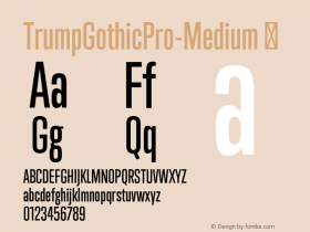 TrumpGothicPro-Medium