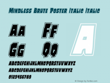 Mindless Brute Poster Italic