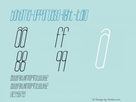 Bohema-Uppercase-Light-Italic