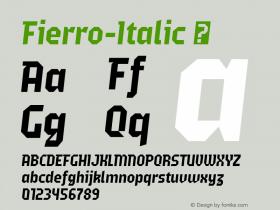 Fierro-Italic