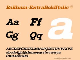 Railham-ExtraBoldItalic
