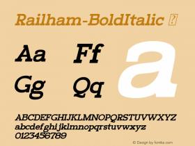 Railham-BoldItalic