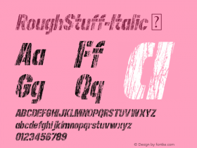 RoughStuff-Italic