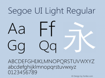 Segoe UI Light