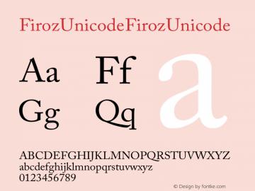 Firoz Unicode