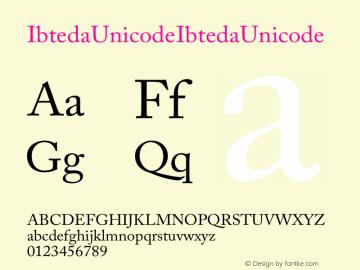 Ibteda Unicode