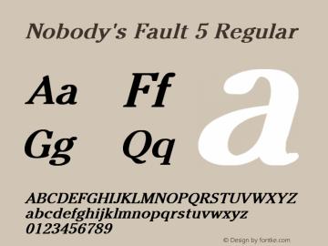 Nobody's Fault 5