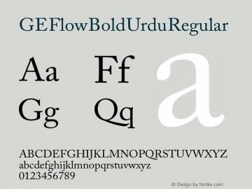 GE Flow Bold Urdu