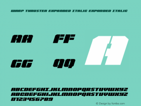 Warp Thruster Expanded Italic