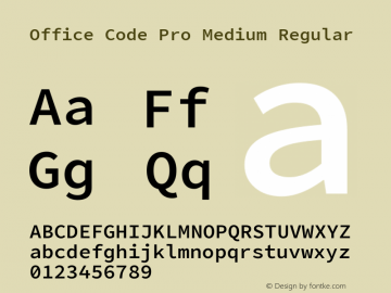 Office Code Pro Medium