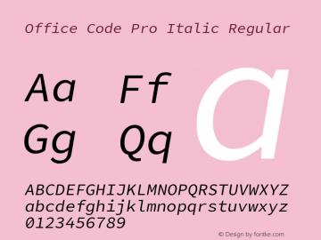Office Code Pro Italic