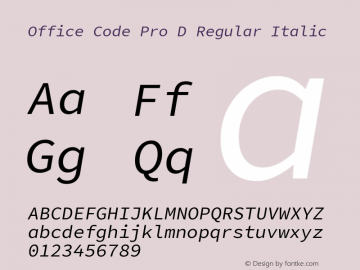 Office Code Pro D
