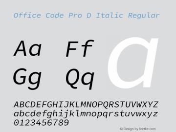 Office Code Pro D Italic
