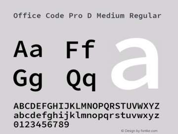 Office Code Pro D Medium