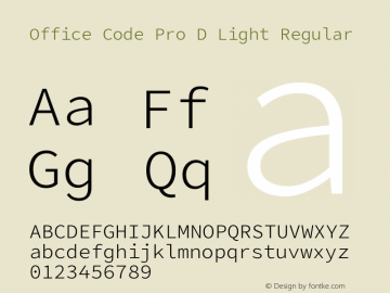 Office Code Pro D Light
