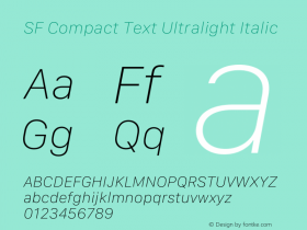 SF Compact Text