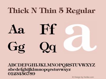 Thick N Thin 5