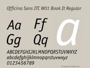 Officina Sans ITC Book It
