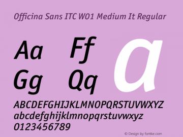 Officina Sans ITC Medium It