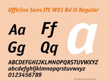 Officina Sans ITC Bd It