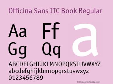 Officina Sans ITC Book