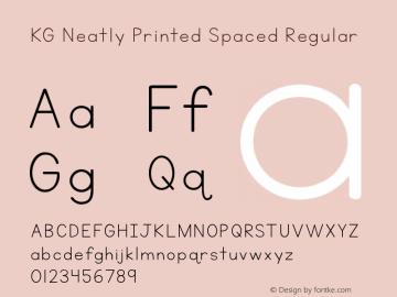 KG Neatly Printed Spaced