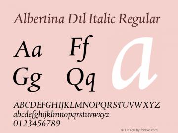 Albertina Dtl Italic