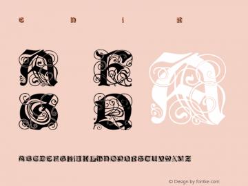 Elegant Nouveau Initials