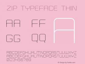 Zip Typeface