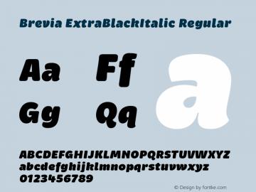Brevia ExtraBlackItalic