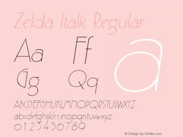 Zelda Italic