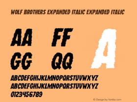 Wolf Brothers Expanded Italic