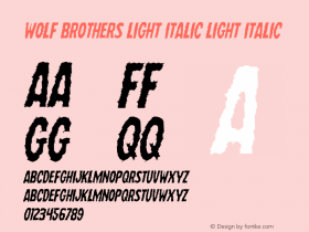 Wolf Brothers Light Italic