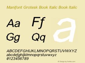 Manifont Grotesk Book Italic
