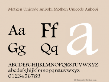 Motken Unicode Anbobi