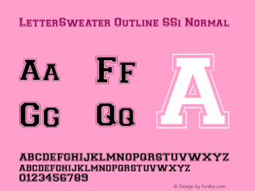 LetterSweater Outline SSi
