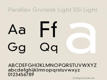 Parallax Grotesk Light SSi