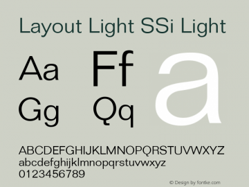 Layout Light SSi