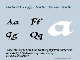 Gabriel reg. Italic