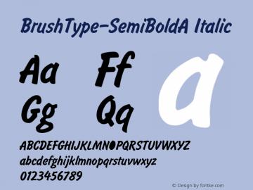 BrushType-SemiBoldA