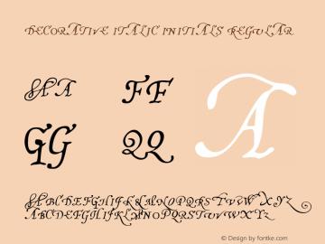 Decorative Italic Initials