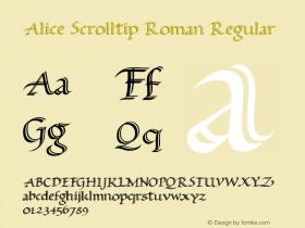 Alice Scrolltip Roman