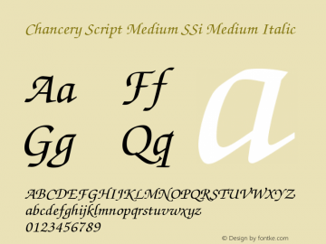 Chancery Script Medium SSi