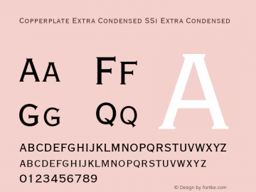 Copperplate Extra Condensed SSi